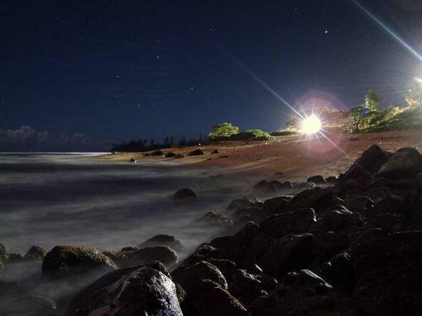 Kauai Beach By Starlight